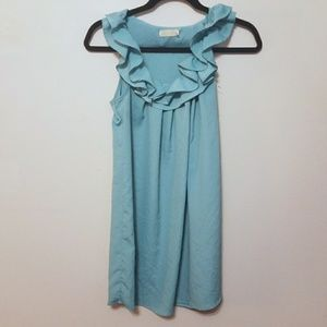 Urban outfitters light blue ruffle shift dress